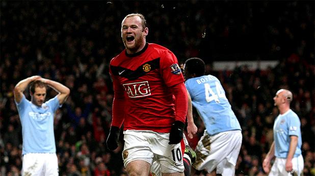 Манчестър Юнайтед-Манчестър Сити 3:1. Гол на Уейн Рууни
