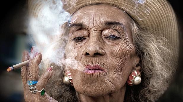 циганка, цигари, пушене