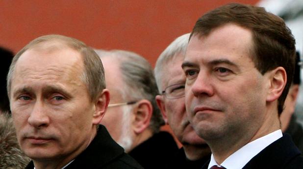 Владимир Путин и Дмитри Медведев