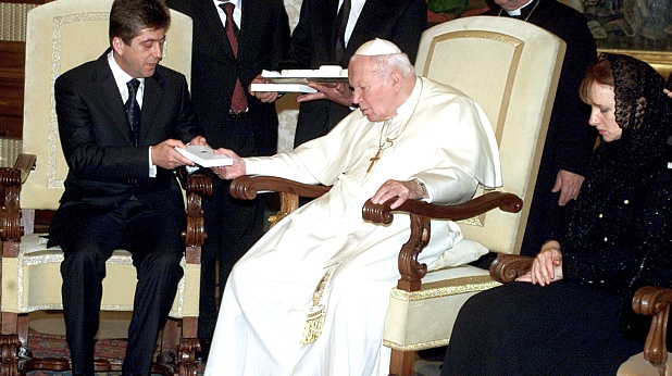 Георги Първанов и Йоан-Павел II