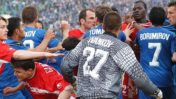 Бой след Левски - ЦСКА 2:0 през 2000 г.