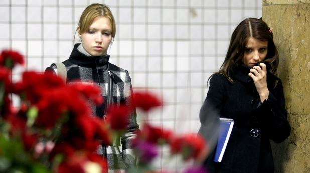 Метрото в Москва и цветя
