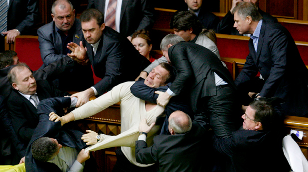 Украйна бой в парламента