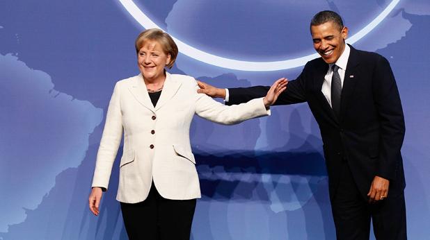 Барак Обама и Меркел