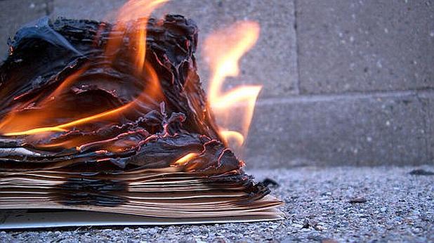 горяща книга, книга