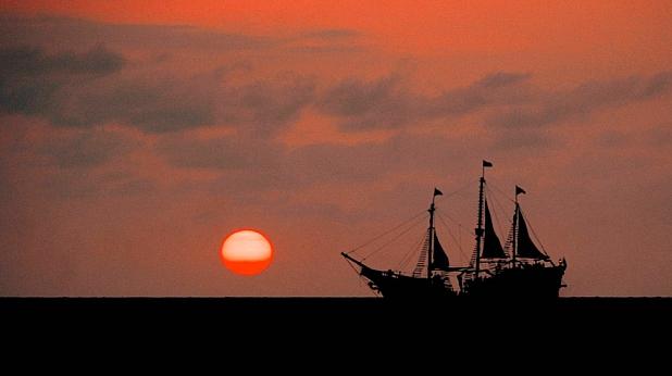 залез, кораб, море