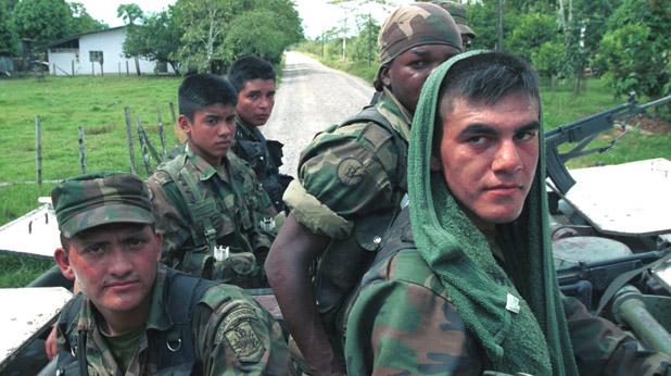 войници, колумбия