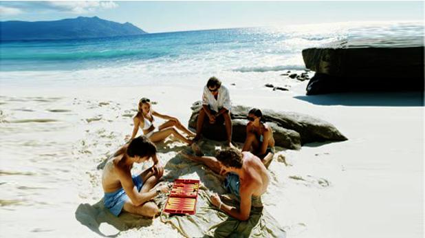 Табла на плажа