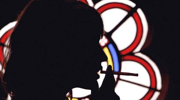 жена, цигара, бивша, сянка
