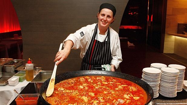 пица, кухня, жена, готвач