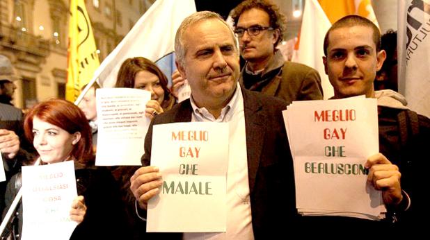 протест, берлускони