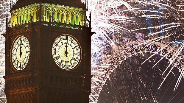 биг бен, лондон, нова година