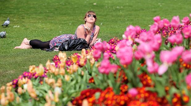жена, парк