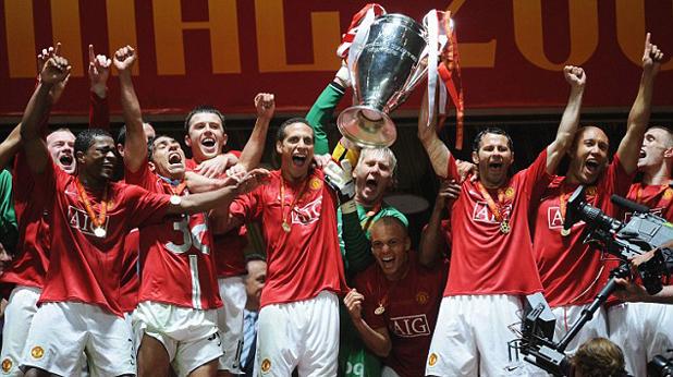 Манчестър Юнайтед печели Шампионската лига през 2008 г. в Москва