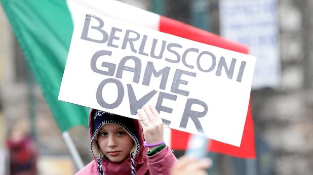 берлускони протест