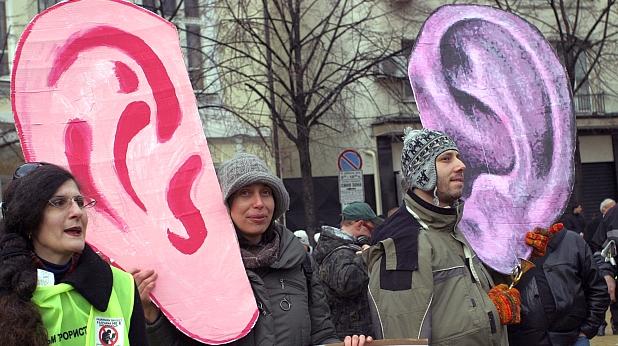 протест, зес, подслушване