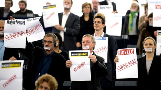 Унгария протест срещу медиен закон