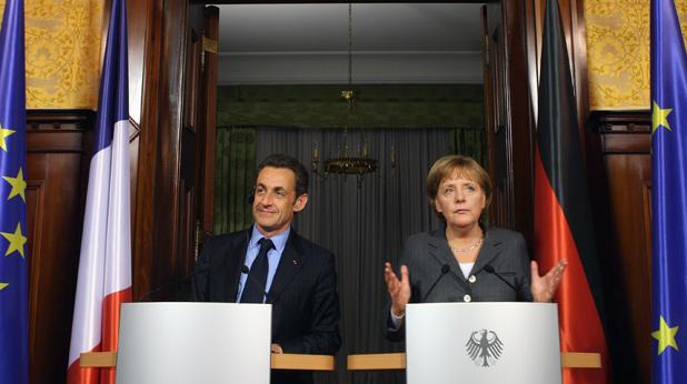 Никола Саркози и Ангела Меркел