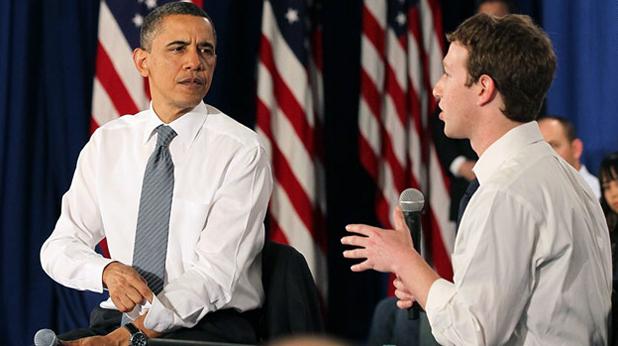 Барак Обама в централата на Фейсбук
