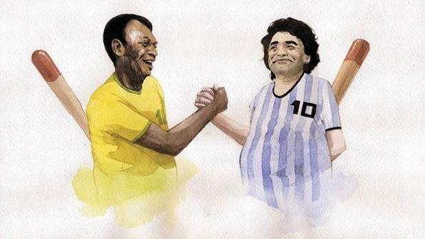 Пеле vs Марадона