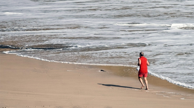 море, бягане, плаж