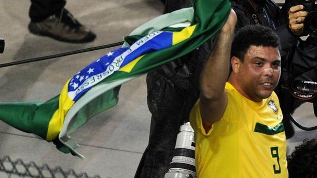 роналдо, сбогуване, бразилия, знаме