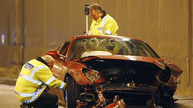 Ferrari-то на Роналдо след катастрофата