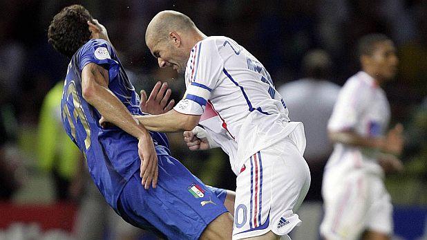 Зинедин Зидан, Марко Матераци, Мондиал 2006, финал, Франция, Италия, удар с глава, червен картон
