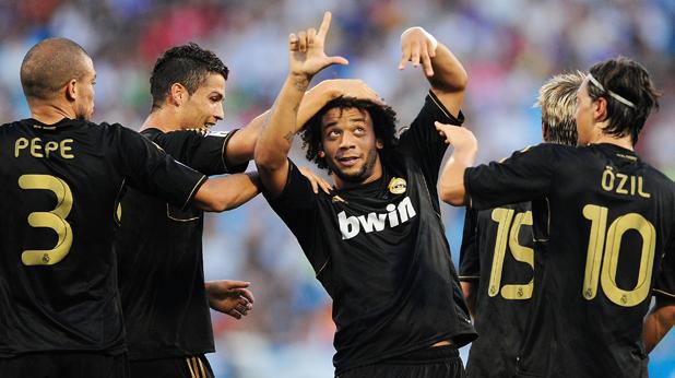 Радостта на Реал (Мадрид) по време на мача със Сарагоса