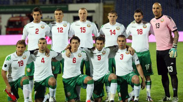 Националният отбор на България преди квалификацията с  Уелс за Евро 2012, загубена с 0:1