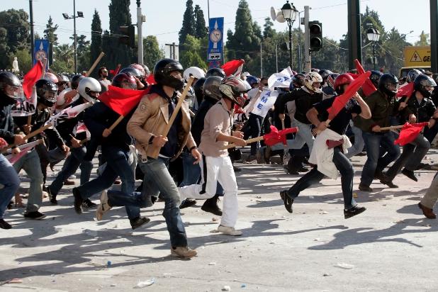 атина стачка11