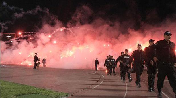 Сараево, Железничар (Сараево), дерби, полиция
