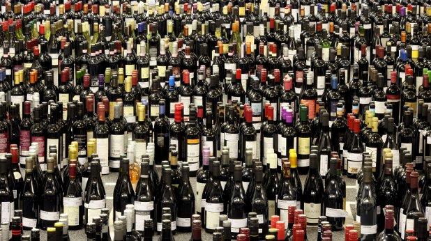 вино, бутилки