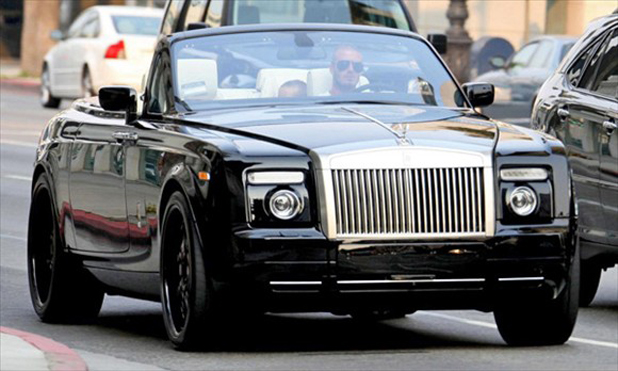 David Beckham and his Rolls-Royce Phantom Drophead Coupe