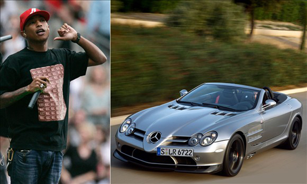 Pharrel Williams and the Mercedes-Benz SLR McLaren