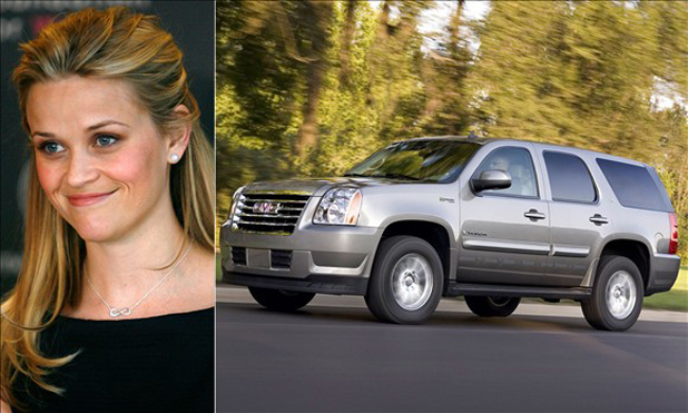 Reese Witherspoon and the GMC Yukon Hybrid