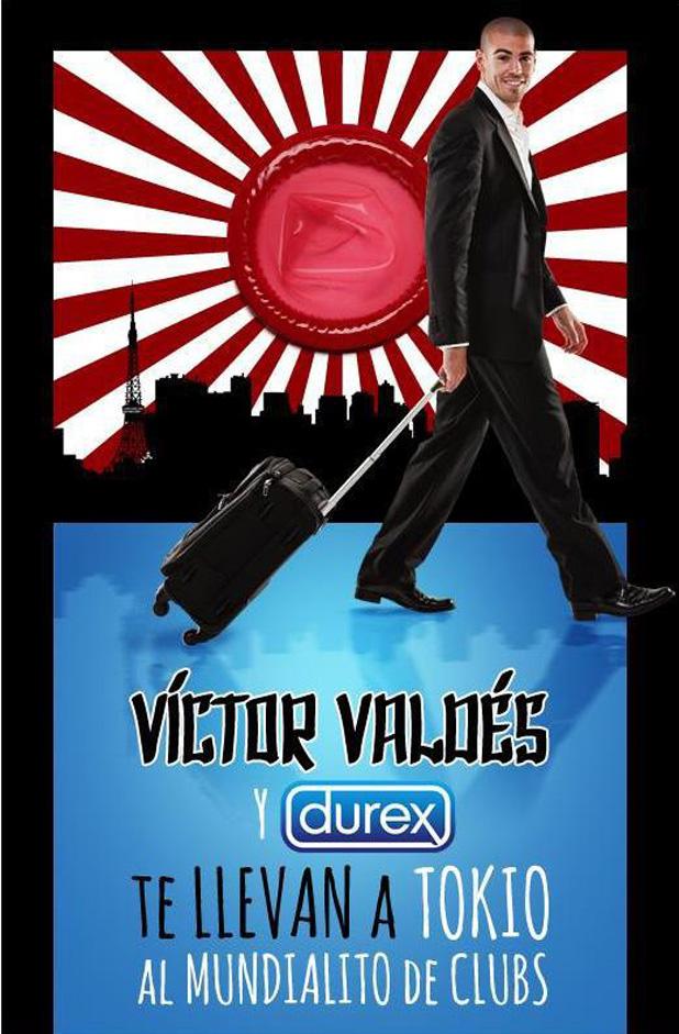 Виктор Валдес, презервативи, Durex, реклама