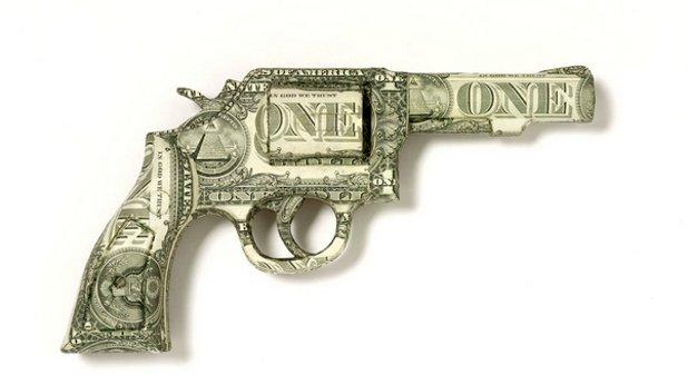 оръжие, пари