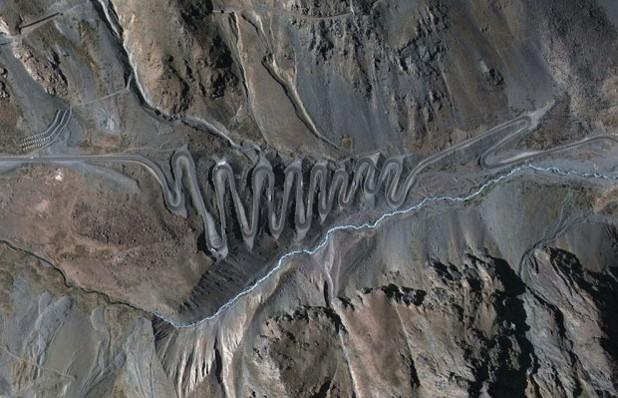 Границата между Чили и Аржентина, гугъл