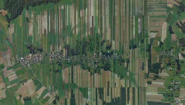 Полята в Малиново Нове, Полша, гугъл.