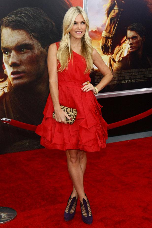 Tinsley Mortimer, червена рокля