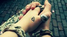 любов, двама, ръце, завинаги