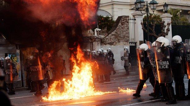 гърция, анархия