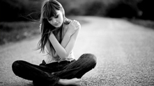 момиче, път, самота