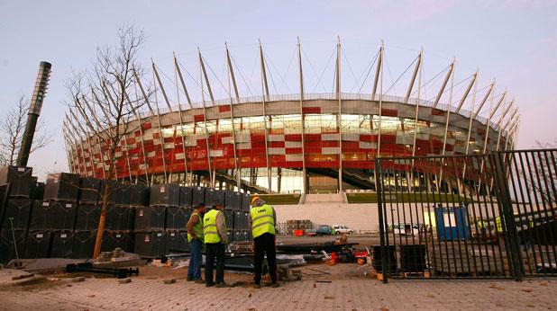 Национален стадион, Варшава, Полша, Евро 2012, строеж