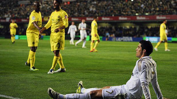 Въпреки гола на Кристиано Роналдо, Реал (Мадрид) завърши 1:1 с Виляреал на 21 март 2012