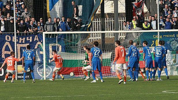 Христо Янев отбеляза от пряк свободен удар гола в мача Литекс - Левски 1:0, игран на 29 март 2012