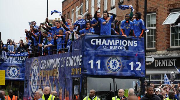 Челси празнува титлата в Шампионската лига