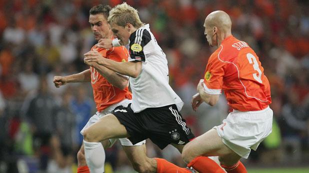 Бастиан Швайнщайгер, Германия, Марк Овермарс, Яп Стам, Холандия, Евро 2004