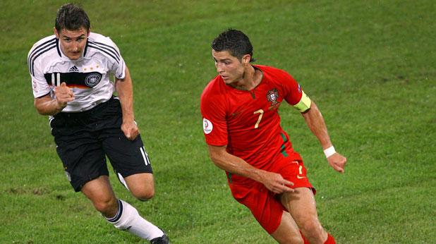Мирослав Клозе, Германия, Кристиано Роналдо, Португалия, Евро 2008